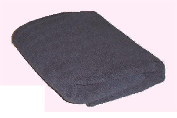 Black Microfibre Towel