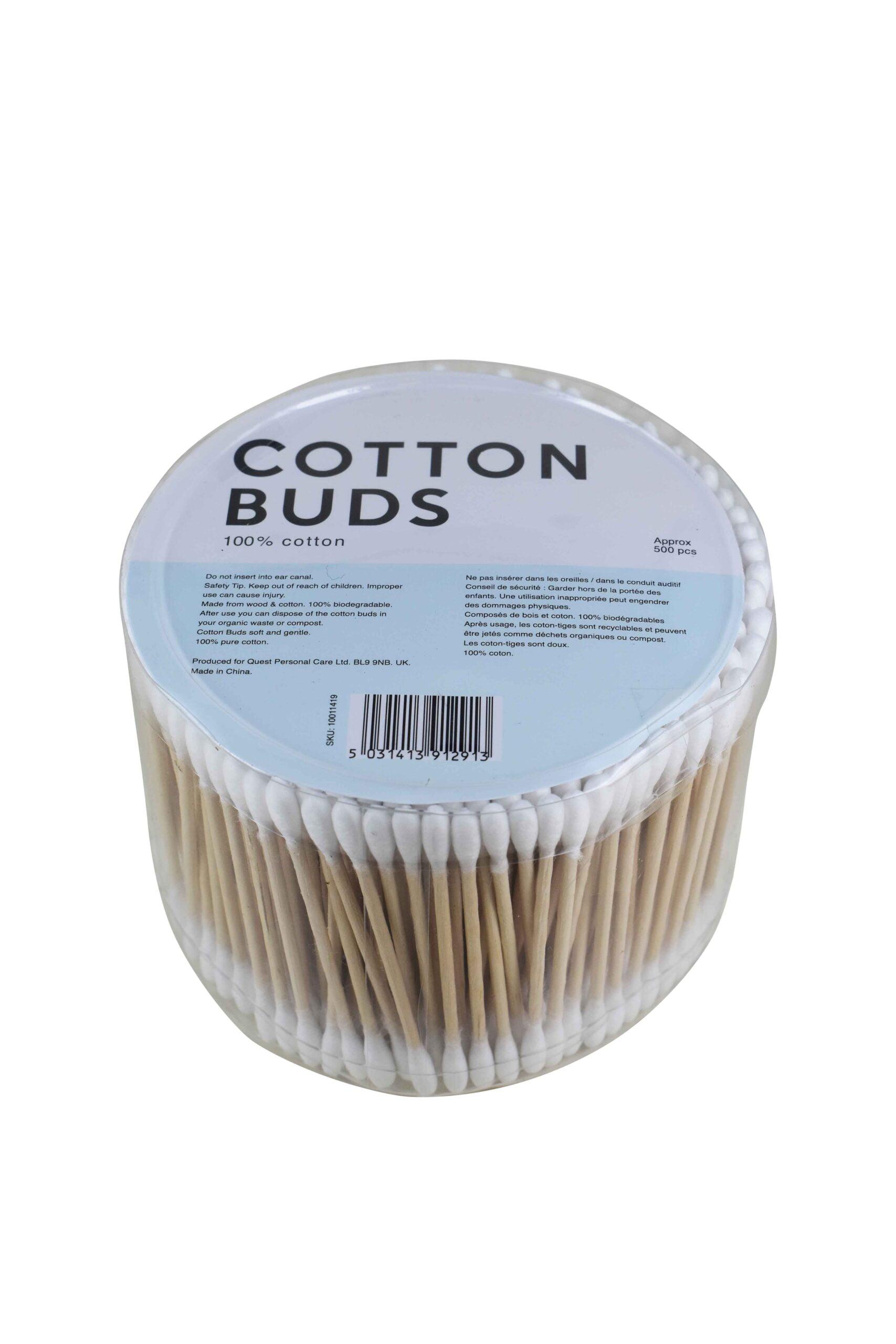 wooden stem cotton buds